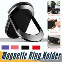 handytischhalter für auto großhandel-Universal Fingerring Halter Für Magnetische Autotelefonhalter Handy Ring Stand Für iPhone X Tablet Carro Suporte Celular