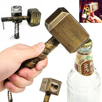 Wholesale bottle hammer for sale - Group buy Beer Bottle Openers Hammer of Thor Shaped Bottle Opener Wine Corkscrew Beverage Wrench Jar Openers For Dinner Party Bar