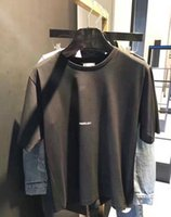asiatische mode t-shirt männer großhandel-2018SS Mode Brief Design Männer Casual Baumwolle kurzarm SAIN LAURE T Shirts Frauen Schlanke Asiatische größe S-XL
