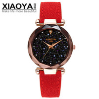 ingrosso orologi in pelle multicolore-Ladies Watch 2018 New Casual Fashion Orologio al quarzo Starry Sky Multicolor Orologio da polso in pelle Designer semplice Orologio da donna