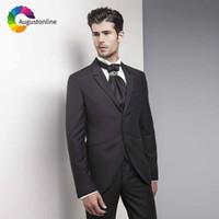 a6c9ae2be90 Black Men Suits For Wedding Groom Wear Evening Party Prom Tuxedo Slim Fit  Formal Best Man Blazer Traje Hombre Jacket+Pants+Vest