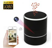 Wholesale Spy Smart - New Multifunctional Smart WiFi Spy Camera 180 Degree Rotating Head Bluetooth Speaker HD 1080P Mini DV Support 128GB TF Card Video Recorder
