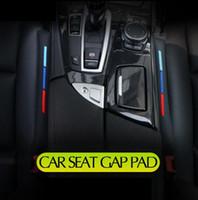 Wholesale bmw x6 accessories - 2pcs Faux Leather Car Seat Gap Pad Fillers Spacer Filler Slot Plug For bmw e46 e39 e60 e90 f30 f10 f34 x1 x3 x5 x6 accessories