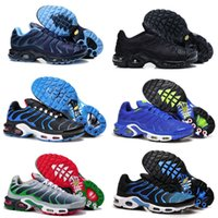 Wholesale basket fashion men - wholesale 2018 Men Requin Pas Cher Fashion Tn running Shoes Sales TOP Quality Cheap France Basket Tn Requin Chaussures Size 40-46
