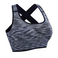 9d901549e27b2 34% Off. NZ  13.34. Lady Seamless Sports Bra Professiona Athletic Gym Yoga  Sport Bra Top Fitness Women Padded Vest Tanks ...