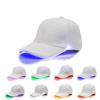 kapak modu toptan satış-LED Beyzbol Şapkası Ayarlanabilir Topu Şapka Değişim Modu Gece Aydınlık Flaş LED Işık Snapbacks Tepe Cap Spor Balıkçılık Şapkala ...