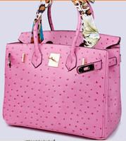 sacos para noivas venda por atacado-saco de avestruz ombro moda crocodilo atacado noiva mulheres bolsa tote senhora bolsa Au DE FranceTogo bolsa de couro genuíno Paris EUA EUR
