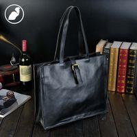 Wholesale Ladies Laptop Tote Bags - ETONWEAG Leather Ladies Hand Bags Handbags Women Famous Brands Black Vintage Shopping Bag Big Capacity Casual Laptop Tote Bag