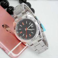 relógio de quartzo quartzo venda por atacado-40mm novo mestre de luxo de aço inoxidável moldura dos homens relógio deslizante fivela pulseira de quartzo azul preto relógio esporte coroa watch orologio reloj
