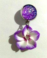 Wholesale Black Stone Jewellery - Earings for Woman Crystal Stud Earrings Jewellery Valentine Gift Korean Fashion Jewelry stainless steel druzy stone Stud Earrings