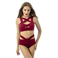 bab060976 No verão 2017 moda lingerie sexy mulher dois cross peito bandage maiô com  multicolor plus size frete grátis