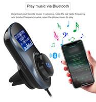 автомобильный mp3-разъем оптовых-Добавить Конвертер Bluetooth Разъем MP3-плеер Bluetooth Car Kit FM-передатчик Автомобильный комплект громкой связи Dual USB зарядное устройство TF для портативного использования телефона