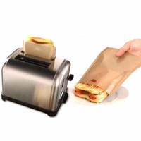 термостойкий пакет оптовых-Мешки с антипригарным покрытием для тостеров Многоразовые и жаропрочные Легкие в уходе Идеально подходят для бутербродов Выпечка Ломтики для пиццы Куриное микроволновое отопление