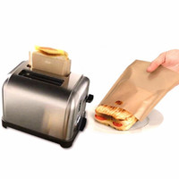 sacos de microondas venda por atacado-Non-Stick Toaster Bags Reutilizável e Resistente ao Calor Fácil de Limpar Perfeito para Sanduíches Pastelaria Pizza Fatias Frango Microondas Aquecimento