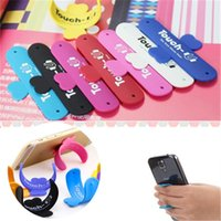 Wholesale holders stands stents - Universal Portable Touch-U One Touch Silicone Stand Holder Cell Phone Mounts Colourful Mobile phone stents T3I0046