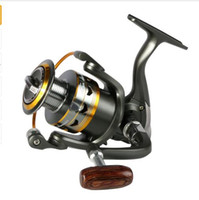 Wholesale Bait Feeder - 2017 hot metal Fishing Reel 11BB 2000 - 6000 series spinning reel for feeder fishing Wood handle fishing reels pesca