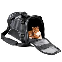 Wholesale Airline Plastic Bag - New Portable Pet Carrier Travel Bag Airline Approved Suitable for Cat Puppy Dogs and Other Small Animals, Comes with Shoulder Strap(Black)