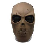 airsoft vollmaschenmaske großhandel-Neue Armee Mesh Vollmaske Skull Skeleton Airsoft Paintball BB Spiel Schützen Sicherheit Maske Hohe Qualität 20js aa