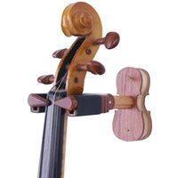 violon violon achat en gros de-Cintre en bois créatif de Violin / Viola avec la serrure automatique pour la maison / studio