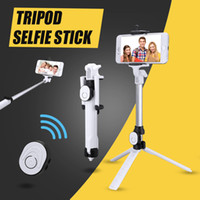 auto-retrato selfie handheld stick venda por atacado-Universal Bluetooth Selfie Vara Extensível Handheld Mini Bolso Auto-retrato com Suporte Ajustável carga livre Bluetooth Obturador Remoto