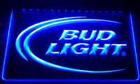ingrosso neon di bud-LS006-b Bud Lite Beer Bar Pub Club Logo Luce al neon insegne Decor Dropshipping di spedizione all'ingrosso 8 colori tra cui scegliere