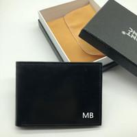 ingrosso portafoglio migliore carta di credito-Portafoglio da uomo in pelle da uomo di successo Porta multifunzione Portafoto MB di lusso Porta carte di credito Portafoto Foto M B