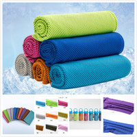 Wholesale compress sport - 30*90CM Polyester Material 11 Colors Reusable Cold Cool Feeling Cooling Sports Outdoor Cold Towel Customizable for Running Biking Camping