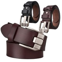 ingrosso spille in pelle-DUBULLE Cintura in pelle di lusso per gli uomini di alta qualità fibbia fibbia Casual Rotary Belt Cinture Pin per gli uomini all'ingrosso