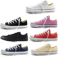 kalk schuhe großhandel-NEW size35-45 New Unisex Low-Top-High-Top Adult Damen Herren Sterne Canvas Schuhe 13 Farben geschnürt Freizeitschuhe Sneaker Schuhe Einzelhandel