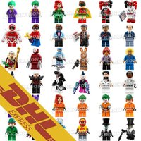 Wholesale Spiderman Blocks - Wholesale Minifig Super Heroes Avengers Spiderman Space Wars Harry Potter Hobbit Figure Super Hero Mini Building Blocks Figures Toys