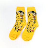 chaussettes de peinture célèbres achat en gros de-Homme Socks Huile drôle Sock Gogh Peinture murale du monde célèbre peinture Série Mode Rétro Femmes Nouvelle personnalité Art Sock Homme d'été