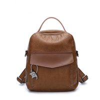 Wholesale copy bags - Copy Leather Knapsack for Students Fashion Big Capacity Shoulder Bag New Arrival PU Backpacks for Travelling