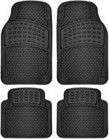 Wholesale black car floor mats resale online - Car Floor Mats All Weather Rubber pc Set Semi Custom Fit Heavy Duty Black