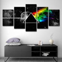 ingrosso arte della parete della musica-Wall Art Poster Canvas HD Prints Dipinti 5 pezzi Pink Floyd Rock Music Pictures Home Decor per soggiorno