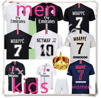 jerseys de fútbol para hombres al por mayor-top18/19 paris jordan Psg Jordan psg kids men soccer jersey Chándal de fútb de fútbol niños terceros terceros MBAPPE jersey jersey de fútbol jersey jersey de fútbol de los hombres calcetines de fútbol
