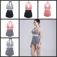 Wholesale girls swimsuit sizes - New Bikinis Women Swimsuit High Waist Bathing Suit Plus Size Swimwear Push Up Bikini Set XXL 3XL