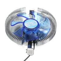 intel soğutucu fan toptan satış-AMD AM2 / AM2 + / AM3 Intel LGA775 / 1156/1155 için Toptan-CPU Soğutucu Fan Soğutucu Mavi Işık Led