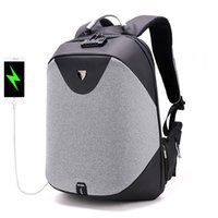 Wholesale Macbook Pro 15 Backpack - New Fashion Laptop Backpacks Male USB Charge backpack men Casual travel Nylon & PU leather Patchwork back pack