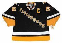 lemieux ccm jersey großhandel-Mens, Womens, Kinder-MARIO LEMIEUX Pittsburgh 1996 CCM Vintage Away Custom Alle NameNo. Hockey personalisierte TrikotsGoalit Cut Trikots