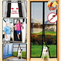 Wholesale Fix Doors - Summer Hand Free Magic Automatic Closing Net Mesh with Magnet Anti Fly Bug Mosquito Insect Netting Divider Door Sheer Curtains CCA9448 20pcs