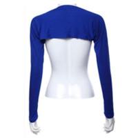 Wholesale Cotton Shrugs - Hayaa Fashion One Piece Sleeves Arm Cover Shrug Bolero Hijab Muslim Blue