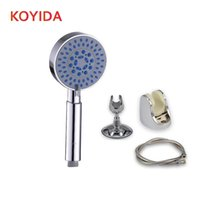 Wholesale Water Pressure Hose - KOYIDA Bath shower head sets 3 functions round water saving shower head high pressure with hose and holder chuveiro