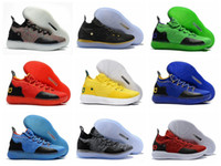 Wholesale grey kevin durant high cut shoes online - 2018 fashion high quality KD XI Oreo Paranoid sports basketball shoes Kevin Durant s men s sports shoes designer KD11 training sneakers