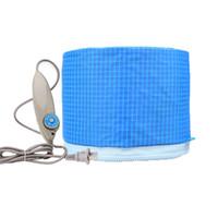 poder da máscara venda por atacado-Máscara Cap Céu Azul Baking Oil Cap Calor Elétrico de Aquecimento Gerador de Energia Elétrica Cuidados Com Os Cabelos SPA Máscara de Cabeleireiro Ferramenta de Aquecimento