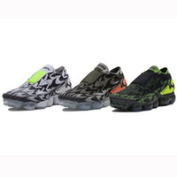 Wholesale rubber fabric paint - 2018 Acronym Vapormax Moc 2 Running Shoes German Unisex Fashion Designer Painting TOP Quality Sports Casual Shoes