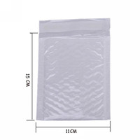Wholesale pearl envelopes - Wholesale- 10X Kawaii Waterproof White Pearl Film Bubbel 11*15 Envelope Bulle Bag Mailer Padded Shipping Envelopes With Bubble Mailing Bags