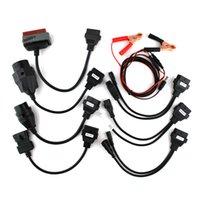 про автомобильный диагностический инструмент оптовых-10 шт. много cdp OBD2 OBDII автомобилей диагностический интерфейс инструмент полный комплект 8 автомобильных кабелей для TCS CDP Pro кабель