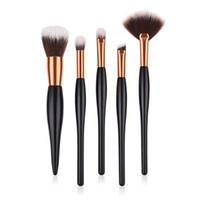 Wholesale brow concealer for sale - 5pcs Professional Makeup Brushes Set Cosmetics Blush Lip Brow Eyeshadow Eyebrow Brush Powder Blending Concealer Brushes tools