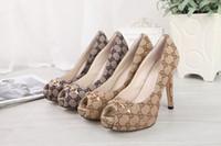 ingrosso pompe per tela per donne-Xiuchun852 Qualità Top Letter fibbia in metallo bocca pesce scarpe col tacco alto in pelle moda donna pompa scarpe vestito 35-41 con scatola