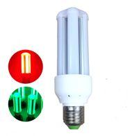 e27 led azul al por mayor-GX10 G24Q E27 Bombilla LED de colores, 5W 7W 9W 12W 15W Emite luz de bombilla verde / roja / azul para decoración